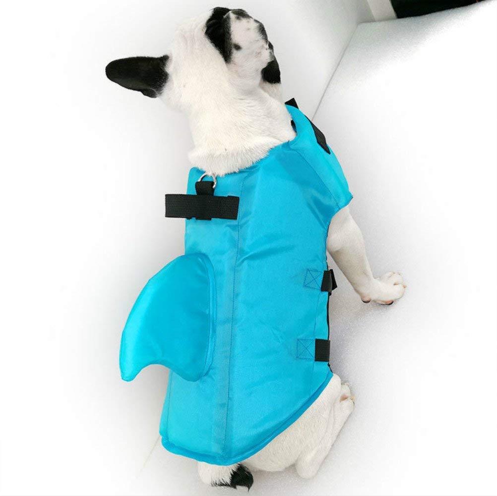 Chicdog Dog LIfe Vests for Swimming Large Medium Jacket Vest Float Coat Vests for Swimming Dog Floatation Vest For Small Medium Large Dogs Pet Swimsuit Shark Fin Dog Swimsuit Professional Life Jacket