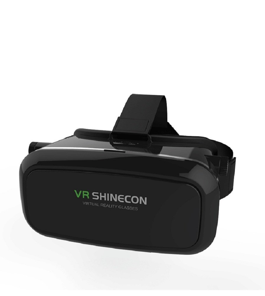 CSMARTE 3D VR Glasses Virtual Reality Box for iPhone 6/6S iPhone6 Plus Samsung LG Sony HTC ZTE and 3.5-6 inch Smartphone for 3D Movies and Games-Black