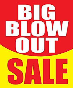 image about Retail Sale Signs Printable referred to as Acquire Substantial Blow Out Sale Retail outlet Office Retail Sale Exhibit