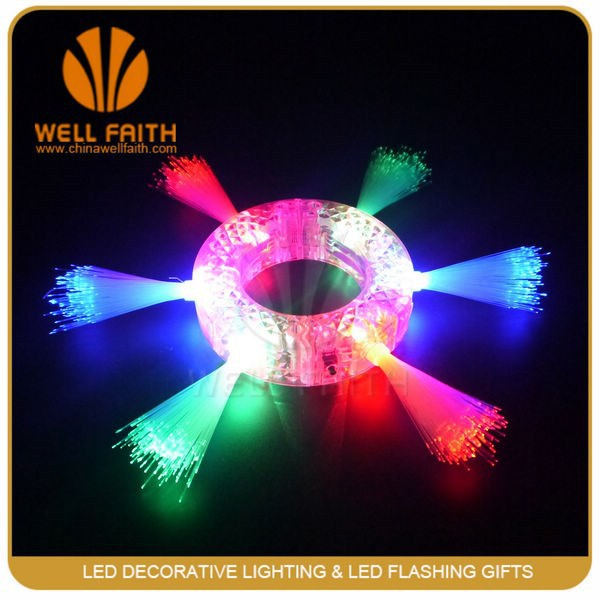 ps optical fiber flashing bracelets party stuff party decoration led light glow in dark bracelet