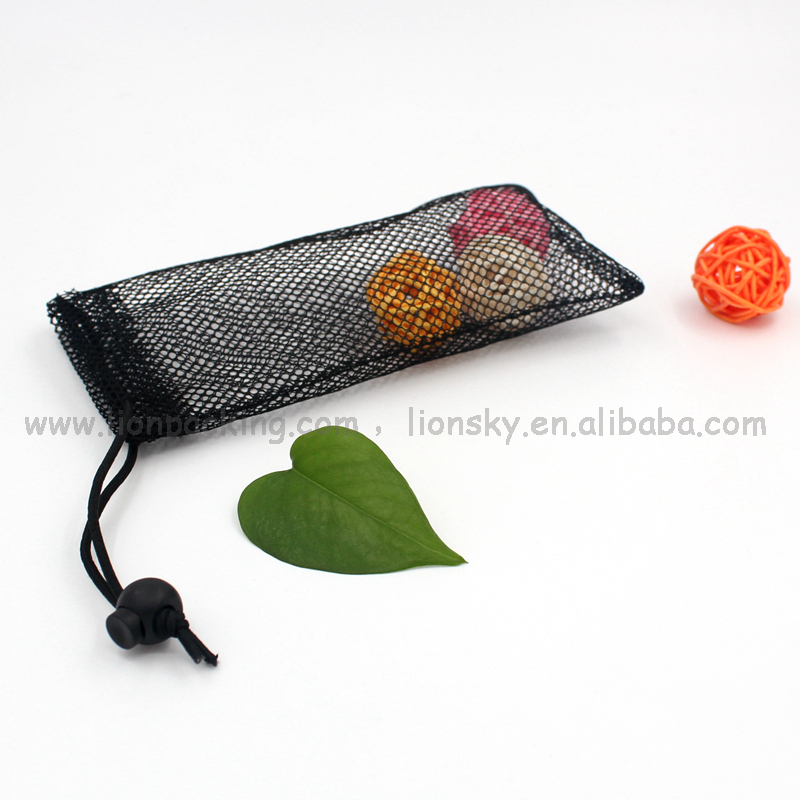 Eco-friendly materials one layer sparse small drawstring mesh pouch bag 10x20 cm etc