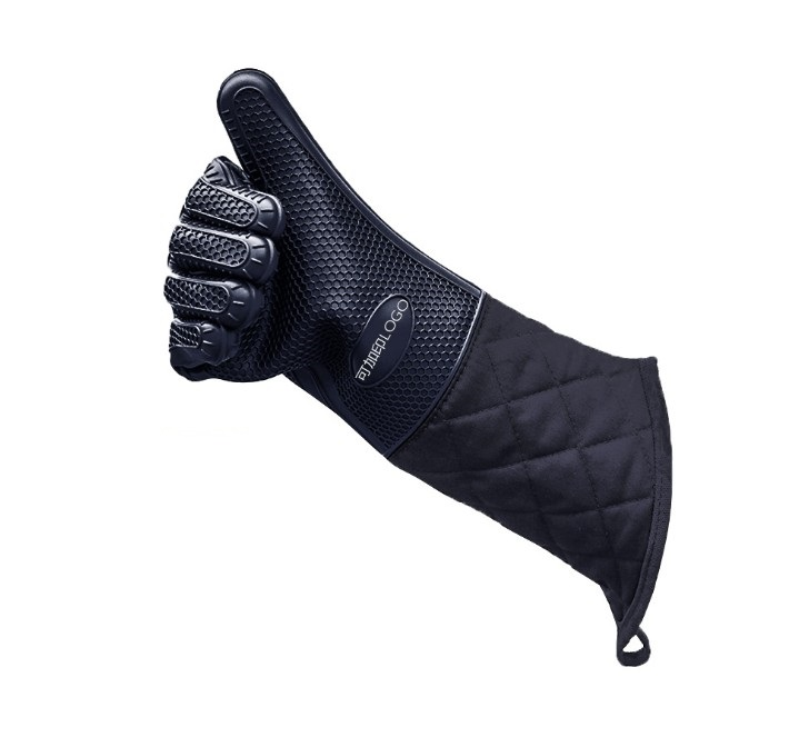 Extreme Heat Resistant Kitchen Silicone Glove For Cooking фото
