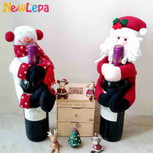 2016 Christmas Snowman Santa Claus Gift For Wine Bottle Decorations Supplies Ornament Home Da Decoracao De Natal Adornos Navidad