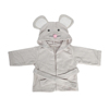Funny design animal hooded bath robe for kids