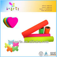 self adhesive craft fluorescent paper,neon color sticker paper roll