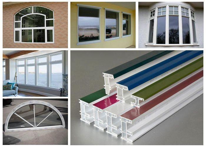 Upvc frame double glazed door glass window round buy for Double glazed door and frame