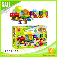 Educational toy connecting blocks baby blocks learn to building block count train