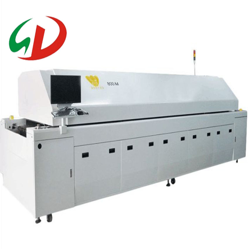 SMT/SMD led transportband Hot air tunnel Grote-size reflow oven up en down de wind