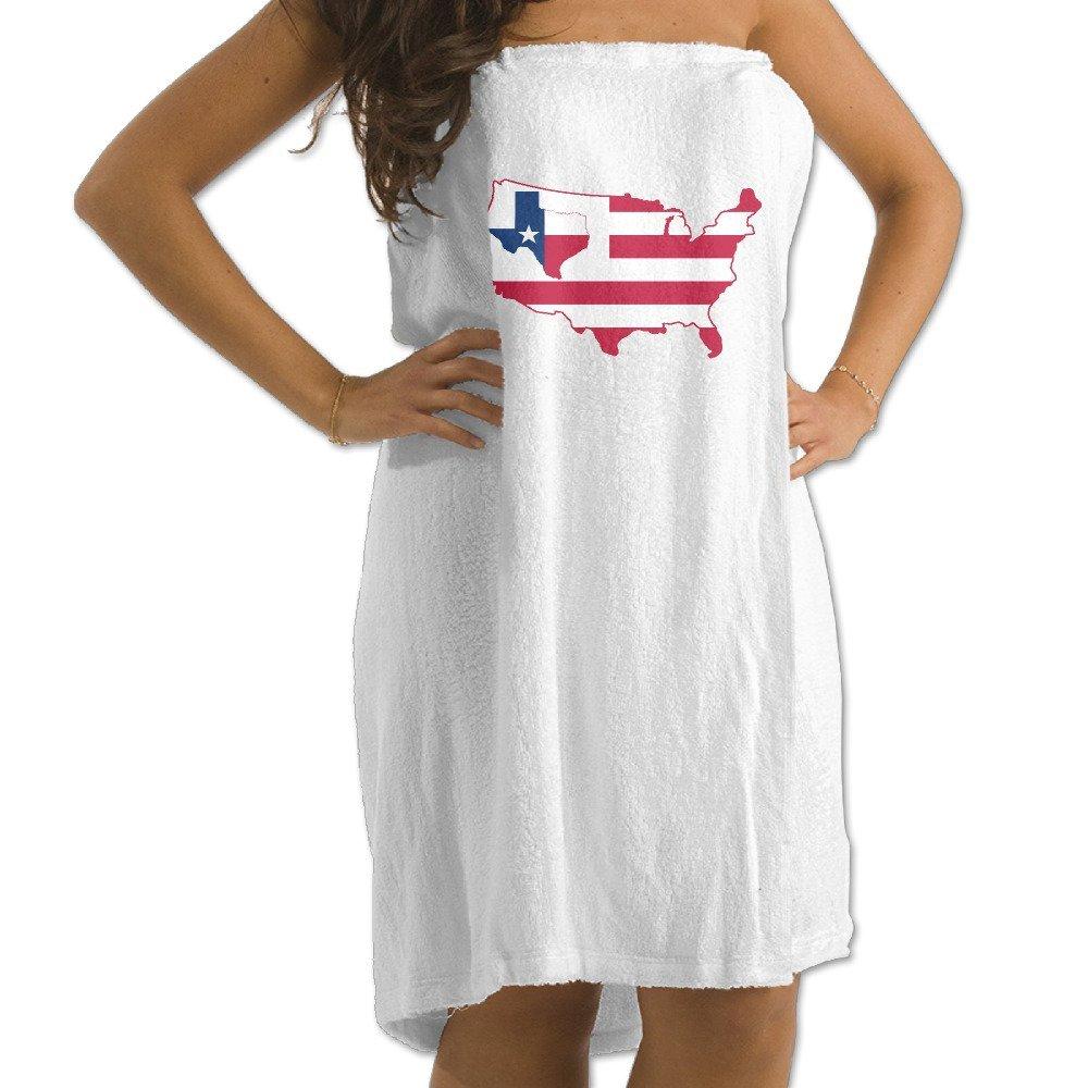 "USA Map Texas Flag 31.5""51""Pool Beach Towel"