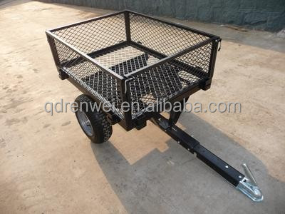ATV Hitch Tow-Behind Yard Utility metal wire Dump Trailer