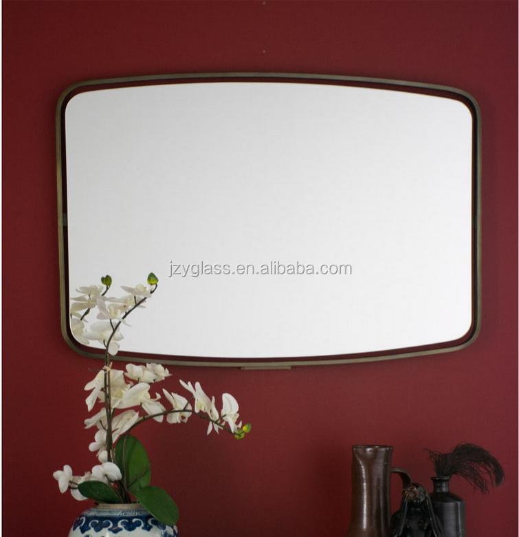 hotel de lujo marco de acero inoxidable espejo de latn plateado rectngulo