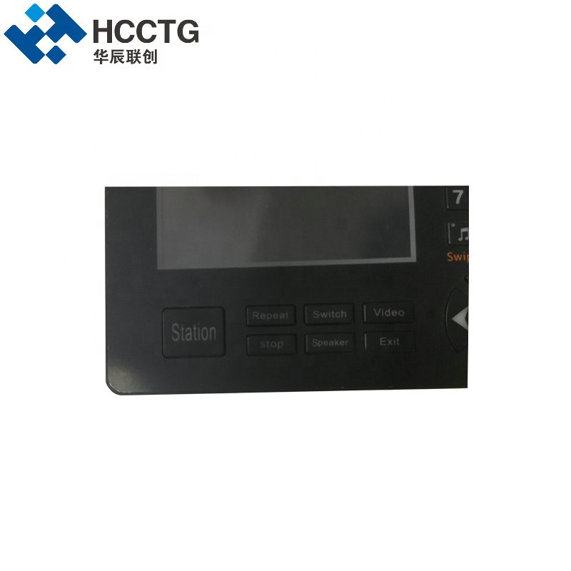 TFT LCD Monitor GPS Intelligent Public Bus Ticket Machine Announcer HCL-MY06
