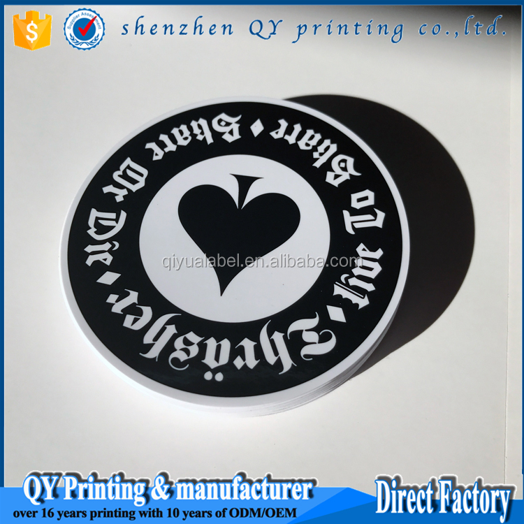 Friendly environmental synthetic paper logo label
