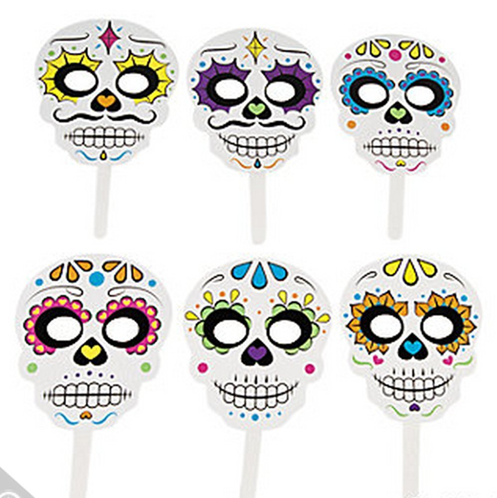 Voodoo Photo Booth Props (6 Piece Set) Day of the Dead