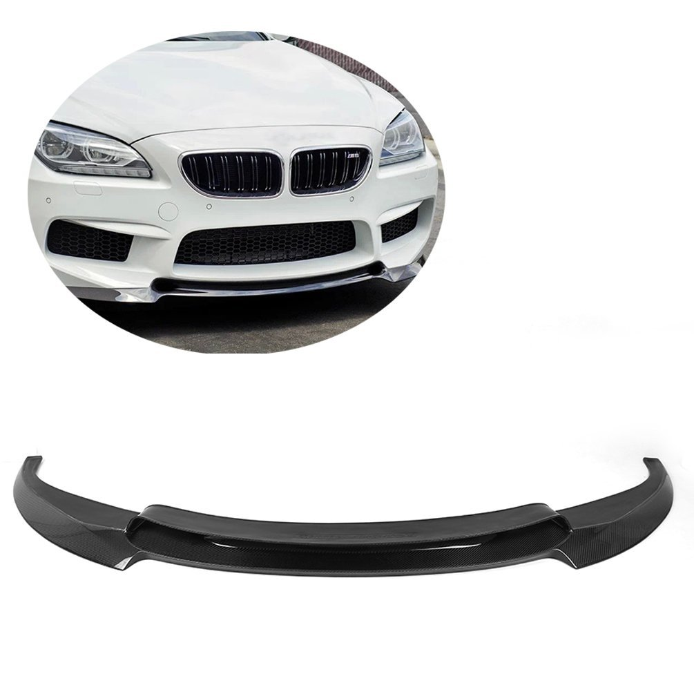 JCSPORTLINE Carbon Fiber Front Chin Spoiler for BMW F12-M6 F13-M6 2012 -2015 ( will only fit M6)