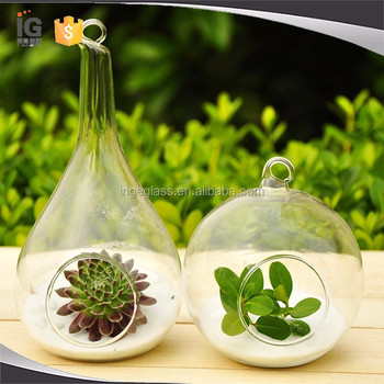 Hanging Teardrop Shape Glass Vasehanging Glass Vase For Permanent