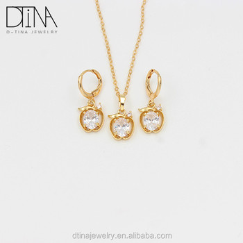Simple Jewellery Set Gold Dubai Cheap Jewellery Designs For Women