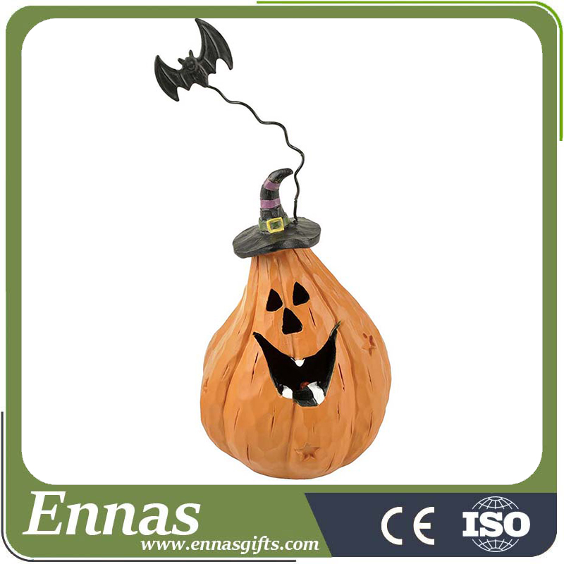 2016 Wholesale pumpkin crafts with tealight for halloween decoration