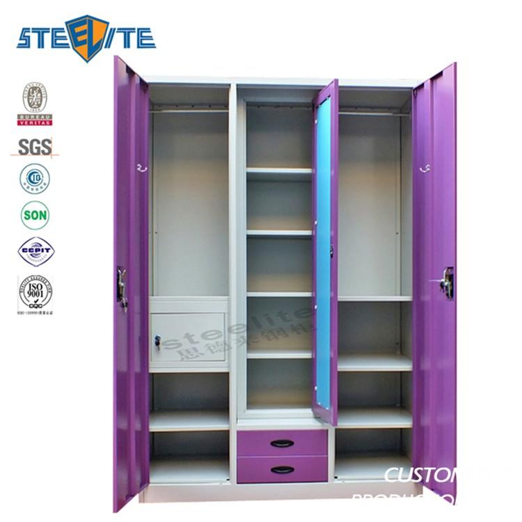 Bedroom steel or iron almirah cupboard designs indian for Bedroom almirah designs india