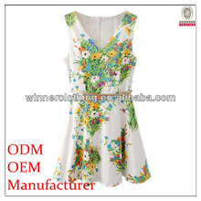 OEM service women tight sexy fashion design sublimation print dress