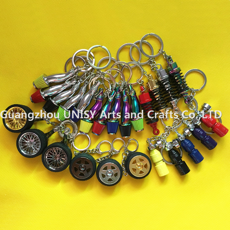 High performance Auto Modified Parts Keychain /Brake Keyring.Turbo Lighter charger keyring/Coilover key chain