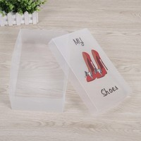 High Quality Professional Custom Frosted PP Plastic Material Foldable Shoe Packaging Box