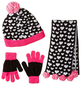 2a1ebecdf06e7 Wholesale jacquard scarf hat glove sets knitted hat and scarf baby pom pom  hats custom