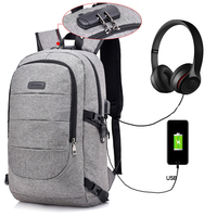 Wholesale waterproof nylon anti-theft combination lock USB charger port business laptop backpack bags