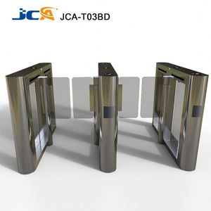 Office building time attendance rfid card safety sliding turnstile barrier gate for access control system