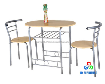 металлический каркас 3 шт кухня завтрак деревянные бистро обеденный стол и стул набор Buy бистро набор столовойкухня завтрак столовый набор3 шт