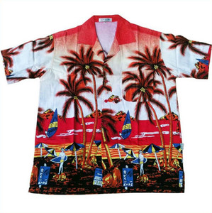 100% cotton hawaii shirt beach wear for men and women