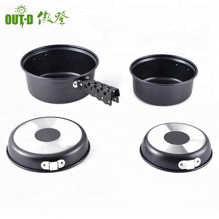 Aluminium Picnic pan non-stick coating camping cookware set фото