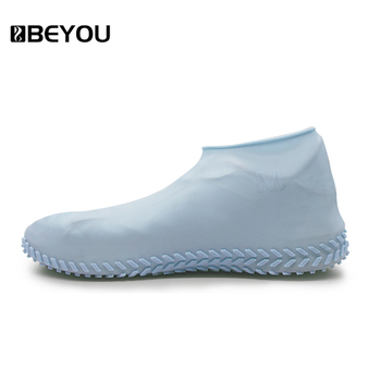 Beyou Running Rainproof Shoe Covers Rain Silicone Reusable Snow Rubber Shoe Cover