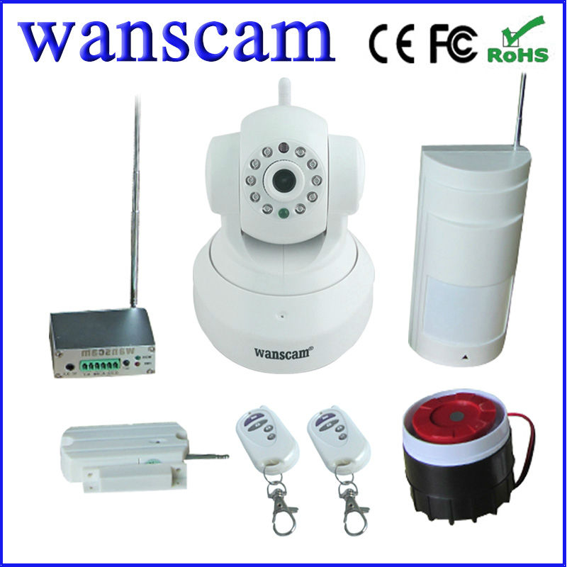 plug &play wireless pir security camera ip alarm security system