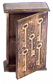 Wooden Wall Hanging Key Box Vintage Style