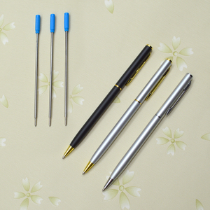 Hot sale personalised frosted coated slim metal biro pen