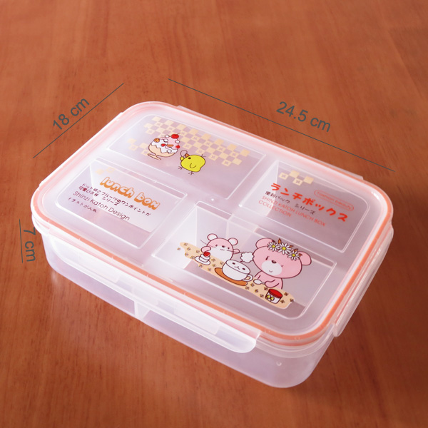 Eco-Friendly Feature and Microwavable Food Container Feature clear plastic storage container divider