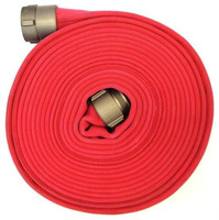 Thickening of nitrile butadiene rubber fire fighting truck hose