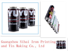Varies size OEM printing empty aerosol tin can for packaging