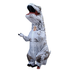 Inflatable T-rex Dinosaur Jurassic World Costume Funny Halloween Dress Inflatable Mascot Blow-up Party Decoration for Children