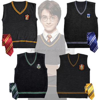 Harry Potter Sweater Cosplay Cotton V-Neck Vest Uniform Fancy Sweater Xmas Gift
