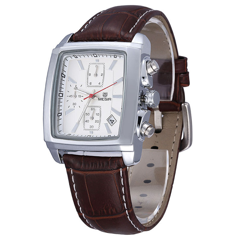 343daa0f445 Buy MEGIR Citizens Chronograph Function Clocks For Boys Titan Watch Genuine  Leather Luxury Men  39 s Top Brand Military climbing Watches in Cheap Price  on ...