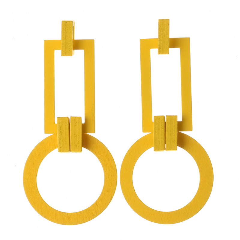 매력 나무 또 귀걸이랑 싼 Wholesale Jewelry Women 스퀘어 (times square) Drop Earrings JE1191