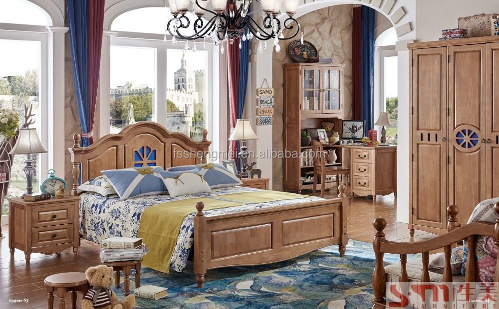 2015 laatste nieuwe ontwerp eikenhout kinderkamer meubels jongens slaapkamer meubelen houten - Engelse stijl slaapkamer ...