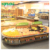 supermarket Merchandising retail wooden and steel fruit and vegetable display