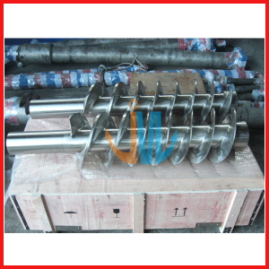 bimetallic cold feed screw for rubber machine