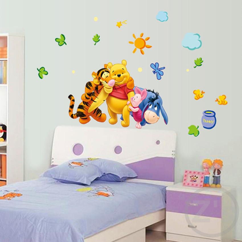 Winnie The Pooh Wall Sticker Home Decor Cartoon Wall Decal