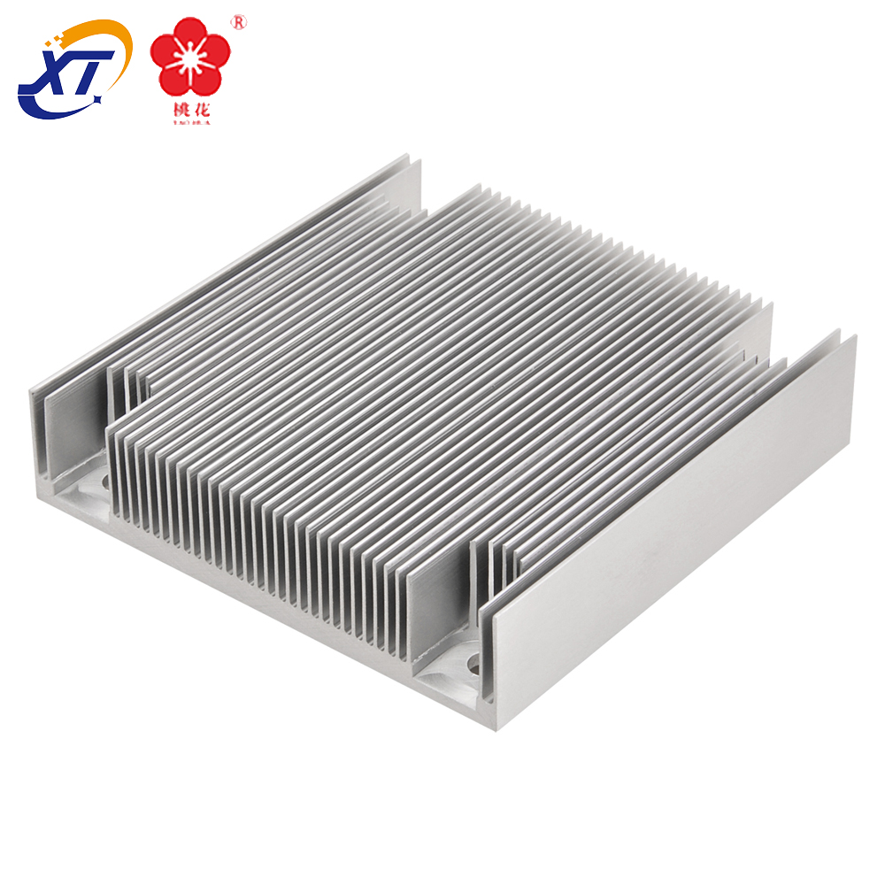 Passive aluminum Heat-Sink Cooling Ribs aluminum Heat Sink IC Circuit Board 80mm x 84mm X 14mm