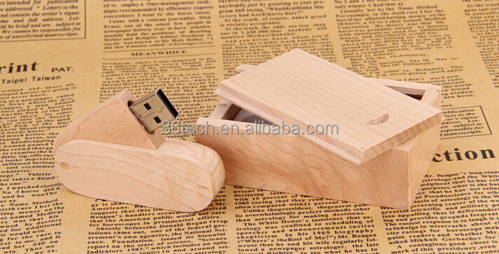 bulk 1gb usb flash drives Quality- Ensured Wooden cylinde rusb flash drive 8GB