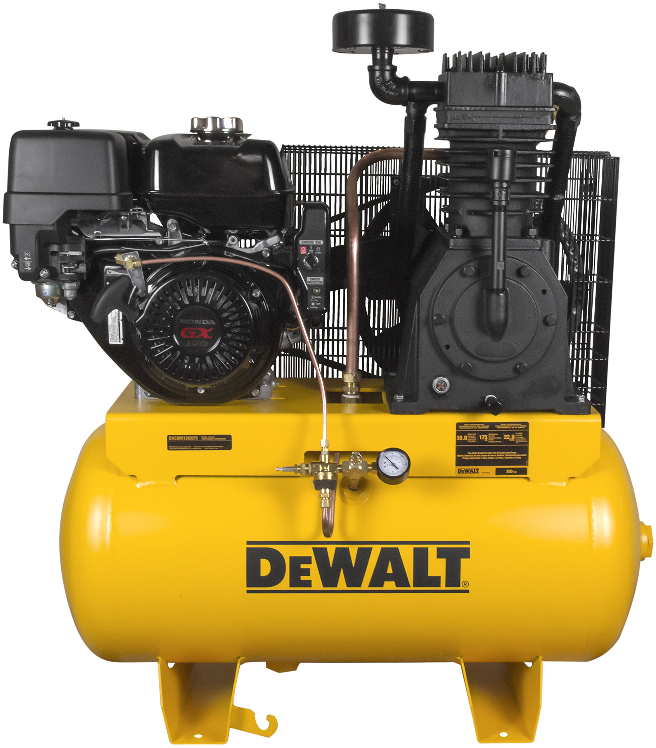 DeWalt DXCMH1393075 Two Stage Industrial Air Compressor, 30-Gallon, Cast Iron